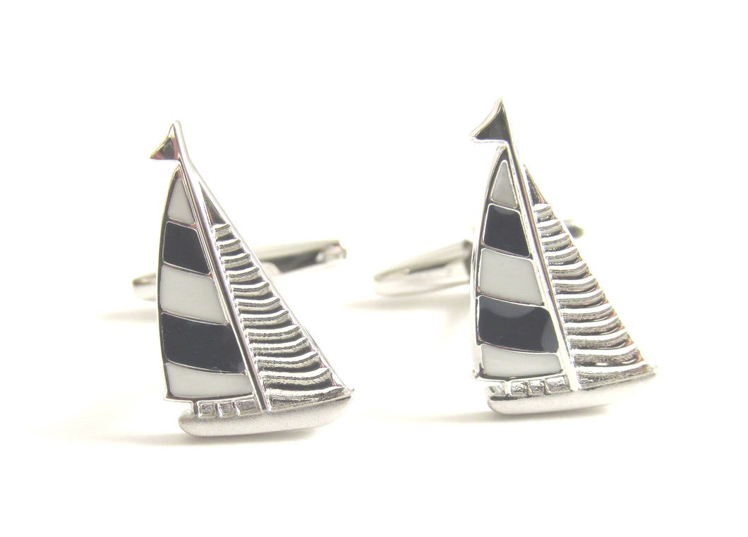 Sailing Boat Novelty Cufflinks by Van Buck