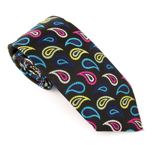 Van Buck Limited Edition Black Teardrop Silk Tie