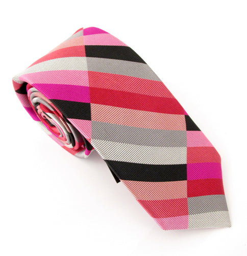 Van Buck Limited Edition Block Stripe Silk Tie