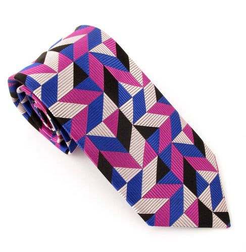 Limited Edition Geometric Silk Tie by Van Buck