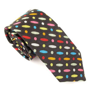 Van Buck Limited Edition Multicoloured Ovals & Spots Silk Tie