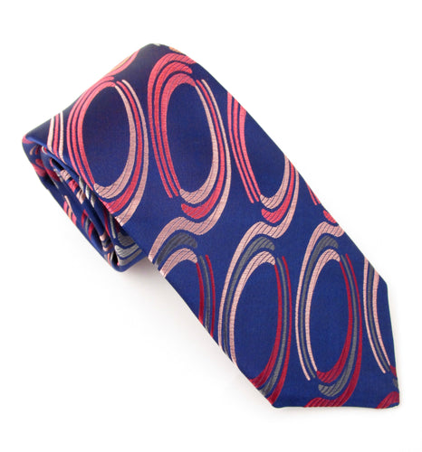Van Buck Limited Edition Navy Large Oval Silk Tie
