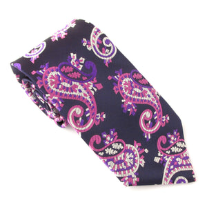 Van Buck Limited Edition Navy & Pink Paisley Silk Tie