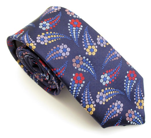 Limited Edition Red Shooting Flower Silk Tie by Van Buck