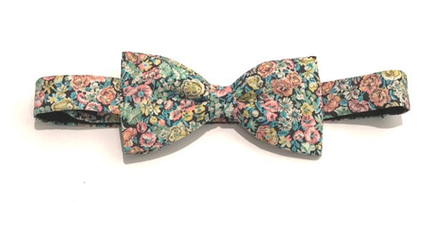 Chive Green Bow Tie Made with Liberty Fabric