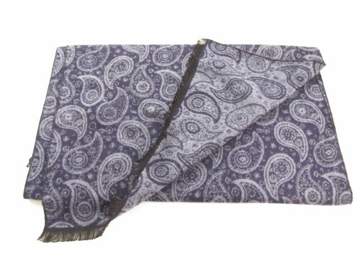 Small Paisley Navy Blue Scarf by Van Buck