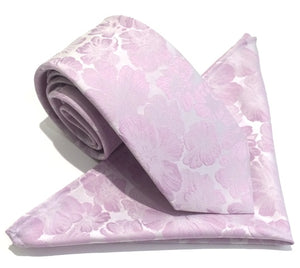 Van Buck Floral Lilac Tie & Pocket Square Set