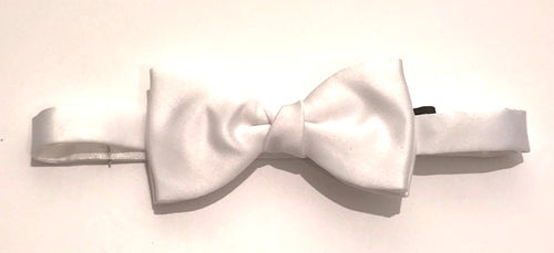 Van Buck Satin Plain White RT Bow