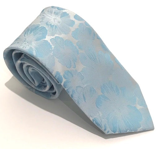 Aqua Floral Wedding Tie by Van Buck