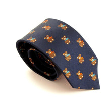 Teddy Bear Motif Silk Tie by Van Buck