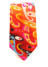 Van Buck Limited Edition Red Multi Paisley Silk Tie