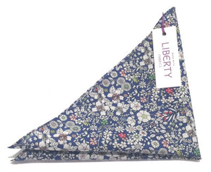 Junes Meadow Liberty Print Cotton Pocket Square by Van Buck