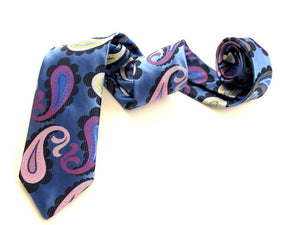Van Buck Limited Edition Sky Large Paisley Silk Tie
