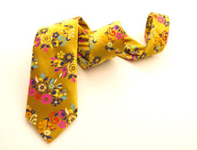 Limited Edition Gold Floral Paisley Silk Tie by Van Buck