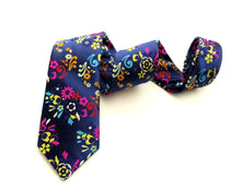 Limited Edition Navy Multi Floral Paisley Silk Tie