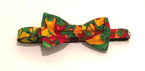 Chilli Pepper Cotton Pre-Tied Bow by Van Buck