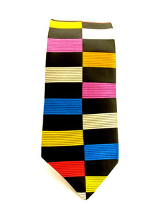 Limited Edition Black Rectangle Silk Tie