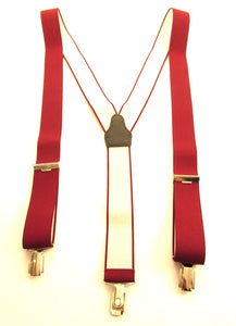 Burgundy Trouser Braces