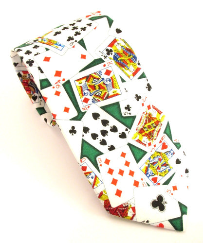 Playing Cards Novelty Tie by Van Buck