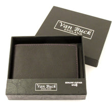 Van Buck Black Leather Card Wallet Made With Green Chive Liberty Fabric