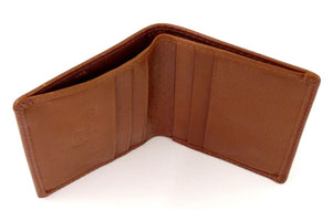 Palace Garden Brown Genuine Leather Small Card Wallet