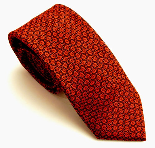 Christmas Red Stars Tie by Van Buck