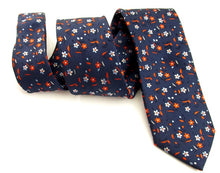 Small Red Flowers Tie by Van Buck
