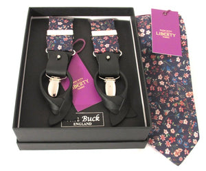 Donna Leigh Tie & Trouser Braces Set Made with Liberty Fabric