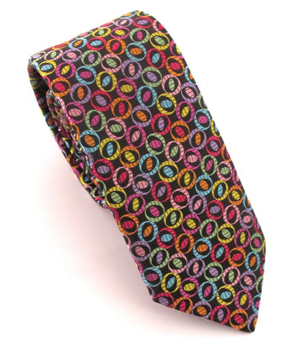 Limited Edition Multicoloured Oval Silk Tie by Van Buck