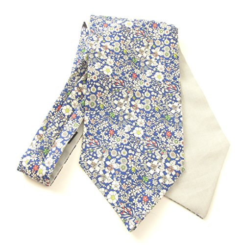 Junes Meadow Cotton Cravat Made with Liberty Fabric