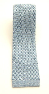 Teal Knitted Silk Tie by Van Buck