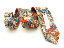 Thorpe Green Cotton Tie Made with Liberty Fabric