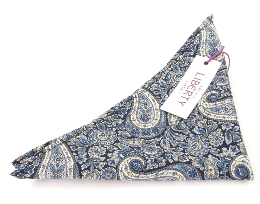 Lee Manor Cotton Pocket Square Made with Liberty Fabric