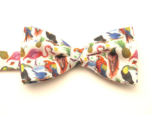 Birds of Paradise Bow Tie Made with Liberty Fabric