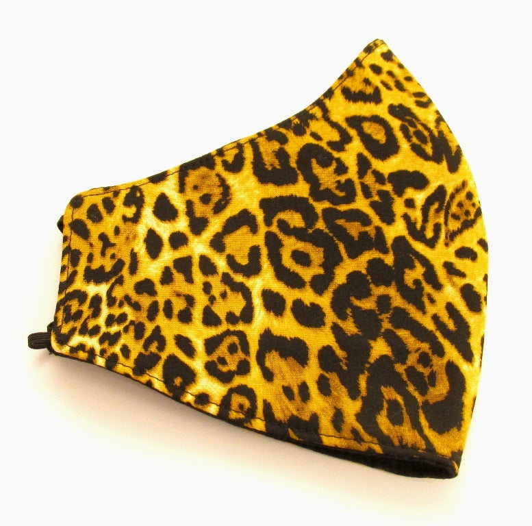 Leopard Print Cotton Face Covering / Mask