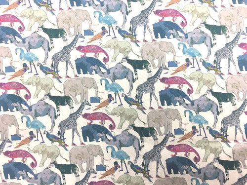 Queue For The Zoo Liberty Fabric