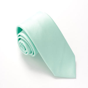 Mint Green Satin Wedding Tie By Van Buck