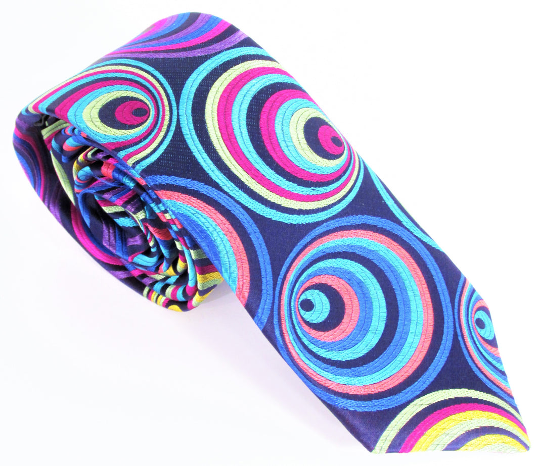 Van Buck Limited Edition Exclusive Multicoloured Hoops Silk Tie