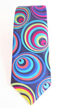 Van Buck Limited Edition Exclusive Multicoloured Hoops Silk Tie - front