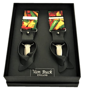 Multi Pepper Party Trouser Braces by Van Buck