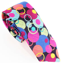Van Buck Limited Edition Exclusive Multicoloured Bubbles Silk Tie
