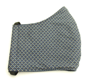 Navy & Grey Diamond Pattern Face Covering