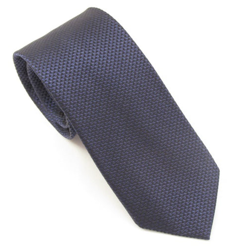 Van Buck London Plain Navy Blue Silk Tie