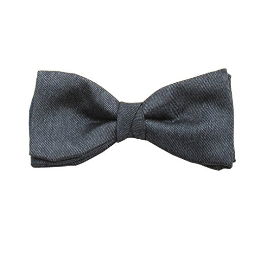 Navy Blue Soho Plain Silk Pre-Tied Bow