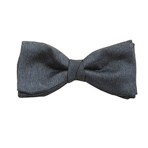 Navy Blue Soho Silk Bow Tie by Van Buck