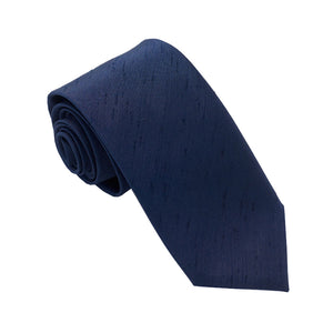 Van Buck Slub Plain Navy Blue Tie