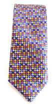 Limited Edition Small Navy Blue Squares Silk Tie by Van Buck