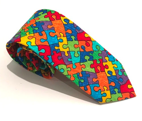 Puzzle Cotton Tie by Van Buck