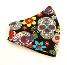 Day Of The Dead Fun Skull Cotton Face Covering / Mask