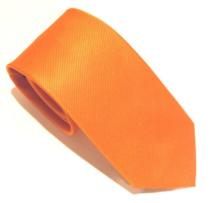 Orange Plain Red Label Silk Tie by Van Buck